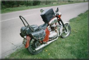 Дорога домой или навьюченый мотоцикл...